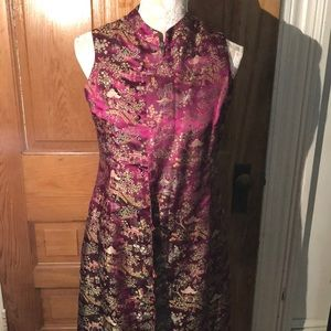 Vintage oriental design Tunic Dress. one of a Kind